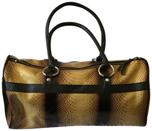 Charlie Lapson Satchel in Black and Tan