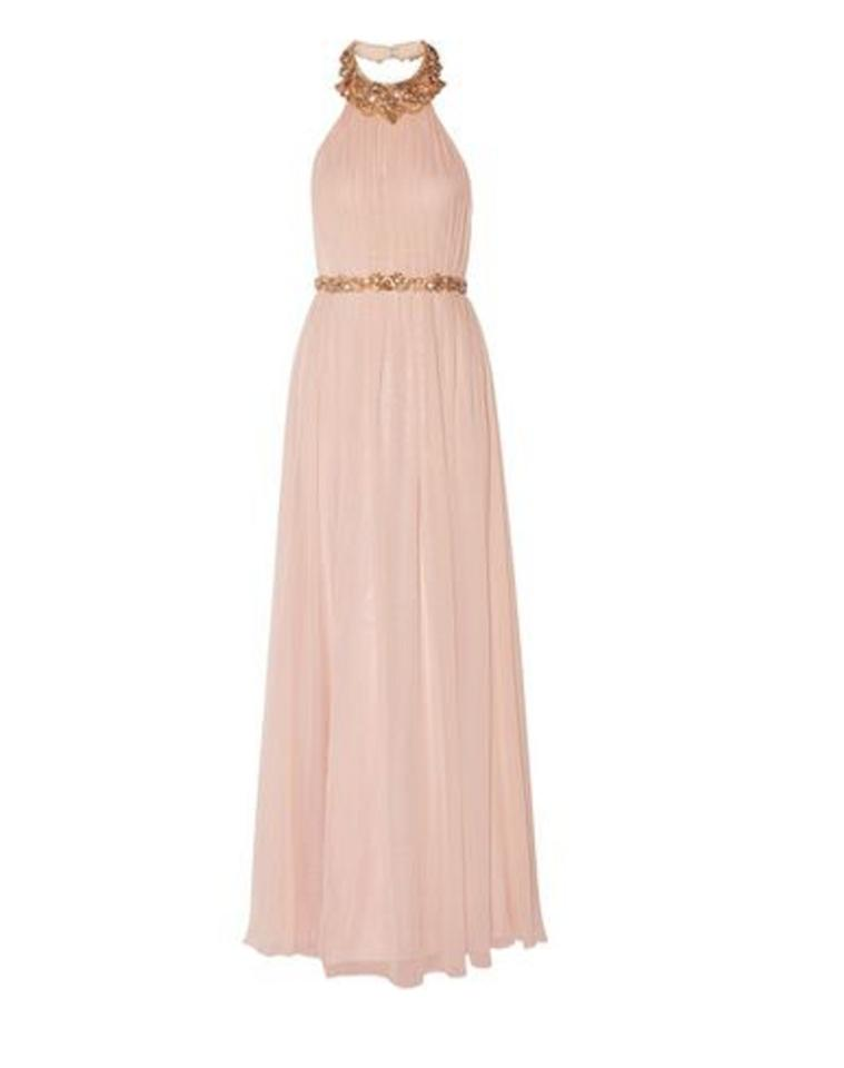 Marchesa Notte Pink Pastel Pink Gown Long Formal Dress Size 12 L