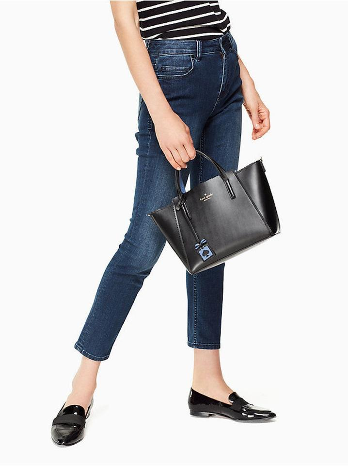 20b420fa88fdd Kate Spade Ivy Drive Small Loryn Black and Blue Leather Tote