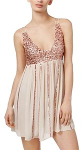 Free People short dress gold on Tradesy