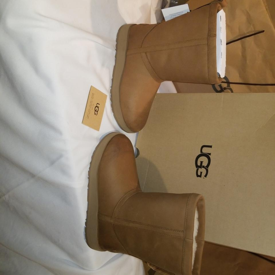 c737bd9def7 UGG Australia Chestnut W Classic Short Leather Waterproof Boots/Booties  Size US 7 Narrow (Aa, N) 32% off retail