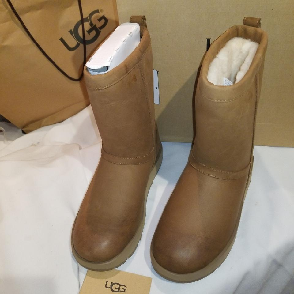 5c4012bbff1 UGG Australia Chestnut W Classic Short Leather Waterproof Boots/Booties  Size US 7 Narrow (Aa, N) 32% off retail