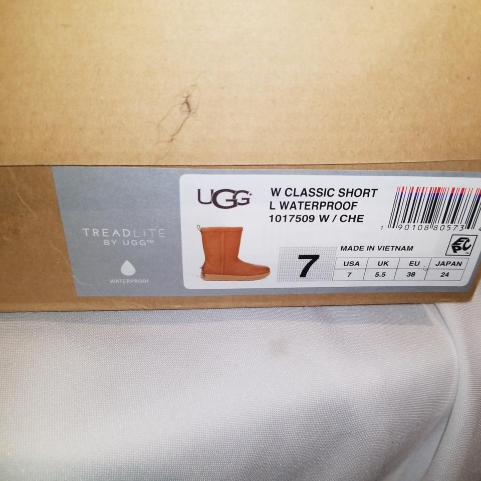 d335f2ce992 UGG Australia Chestnut W Classic Short Leather Waterproof Boots/Booties  Size US 7 Narrow (Aa, N) 32% off retail