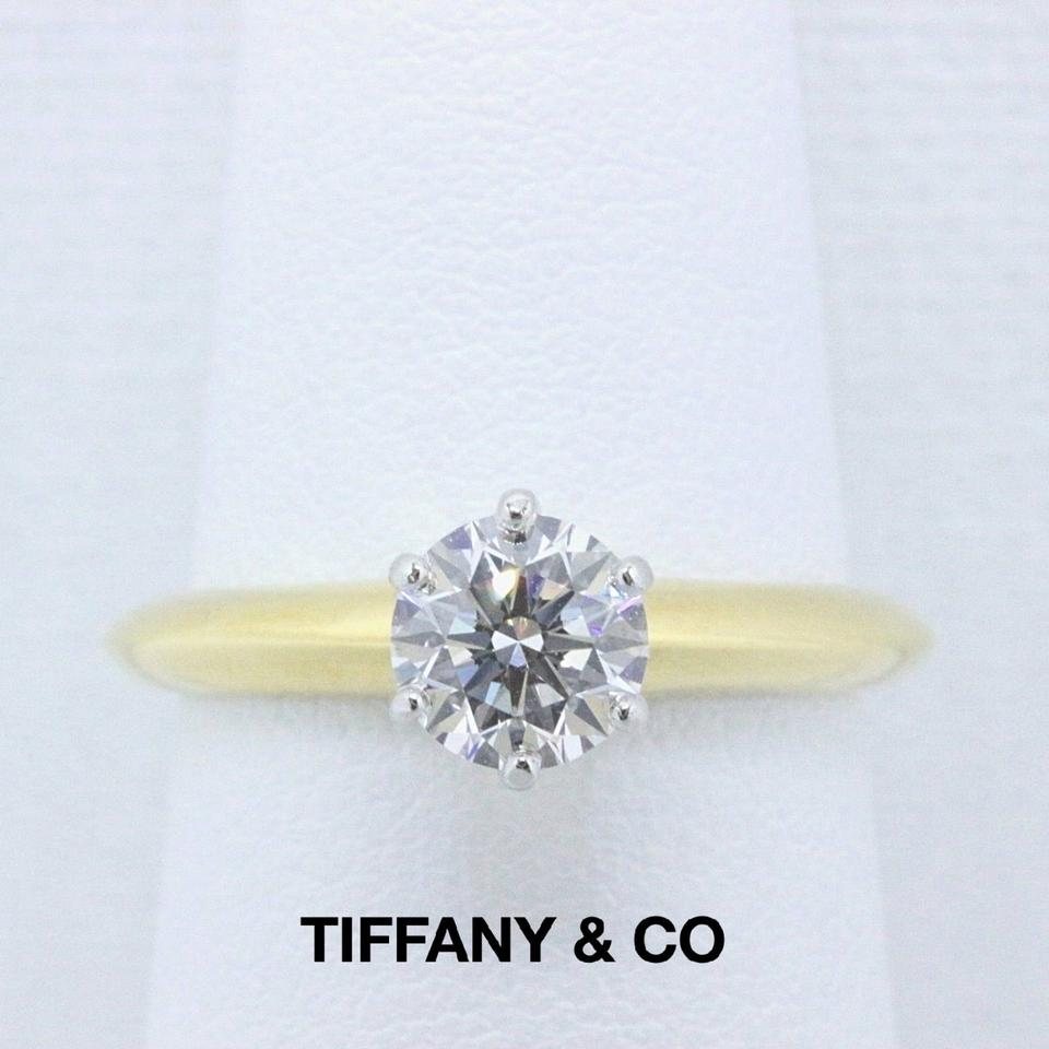 c655d879d Tiffany & Co. D Vvs1 Diamond Round Brilliant 0.80 Cts 18k Yellow Gold Engagement  Ring