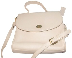 Coach Two-way Style 'willis' Style Mint Vintage Brass Hardware Satchel in buttery soft stone colored leather