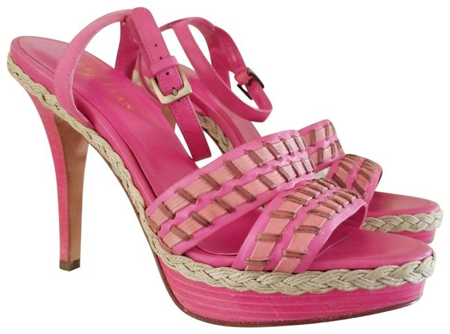 Item - Pink Candy Strappy Vanessa Air Rock Candy/Shrimp/Sequoia Stacked Stiletto Platforms Size US 6.5 Regular (M, B)