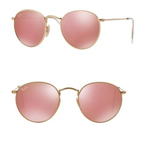 Ray-Ban Ray-Ban Pink Mirror Round Metal RB3447 50MM