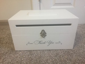 Things Remembered White Card Box Reception Decoration