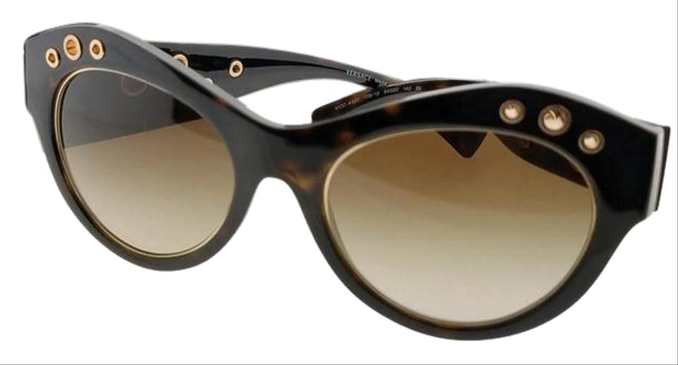 cdc570a7cc1a7 Versace Tortoise Frame Ve4320-108-13-54 Oval Women s Brown Lens Sunglasses.  Item    24054973