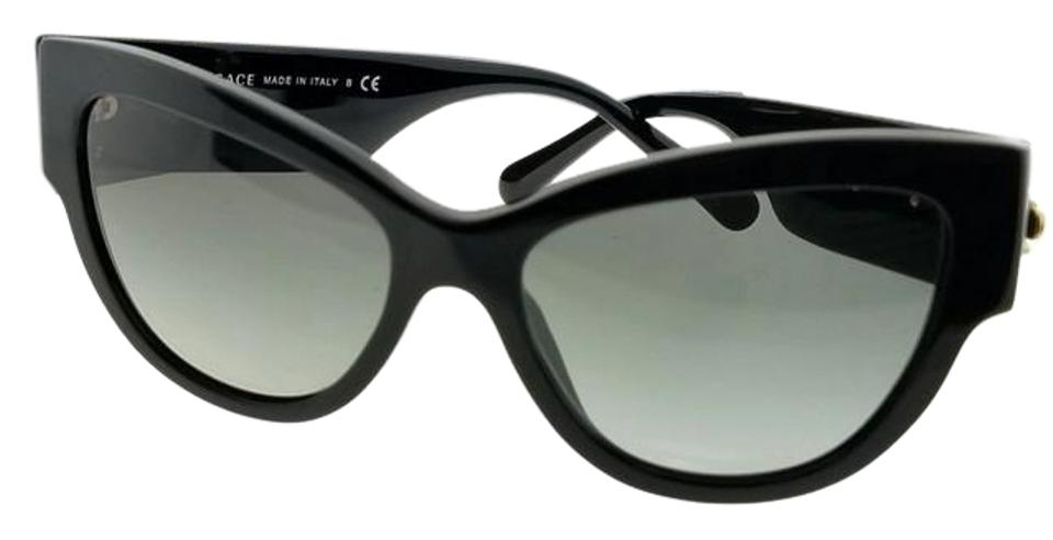 aa86245bd1cf1 Versace Black Frame Ve4322-gb1-11-55 Cat Eye Women s Grey Lens Sunglasses.  Item    24054993