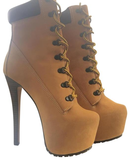Item - Tan In Nubuck Leather Boots/Booties Size US 7.5 Regular (M, B)
