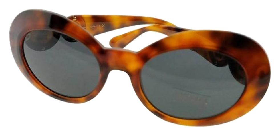 65015a82db743 Versace Tortoise Frame Ve4329-521487-53 Oval Womens Grey Lens Sunglasses.  Item    24055020