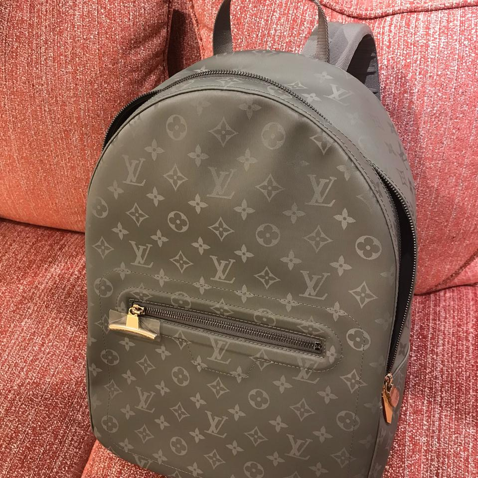bc862a7732ae Louis Vuitton Limited Edition Monogram Titanium Coated Canvas Backpack -  Tradesy