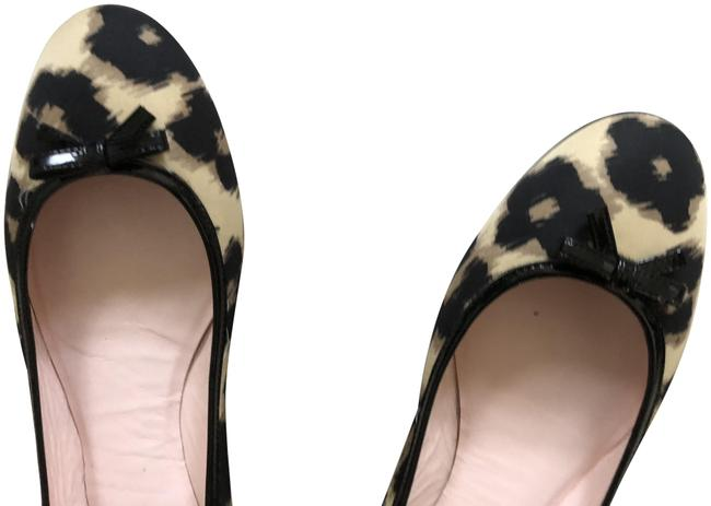 Item - Black Beige Flats Size US 9 Regular (M, B)