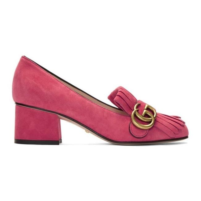 """Item - Pink Marmont """"Gg Marmont"""" Suede Loafers Pumps Size EU 40 (Approx. US 10) Regular (M, B)"""