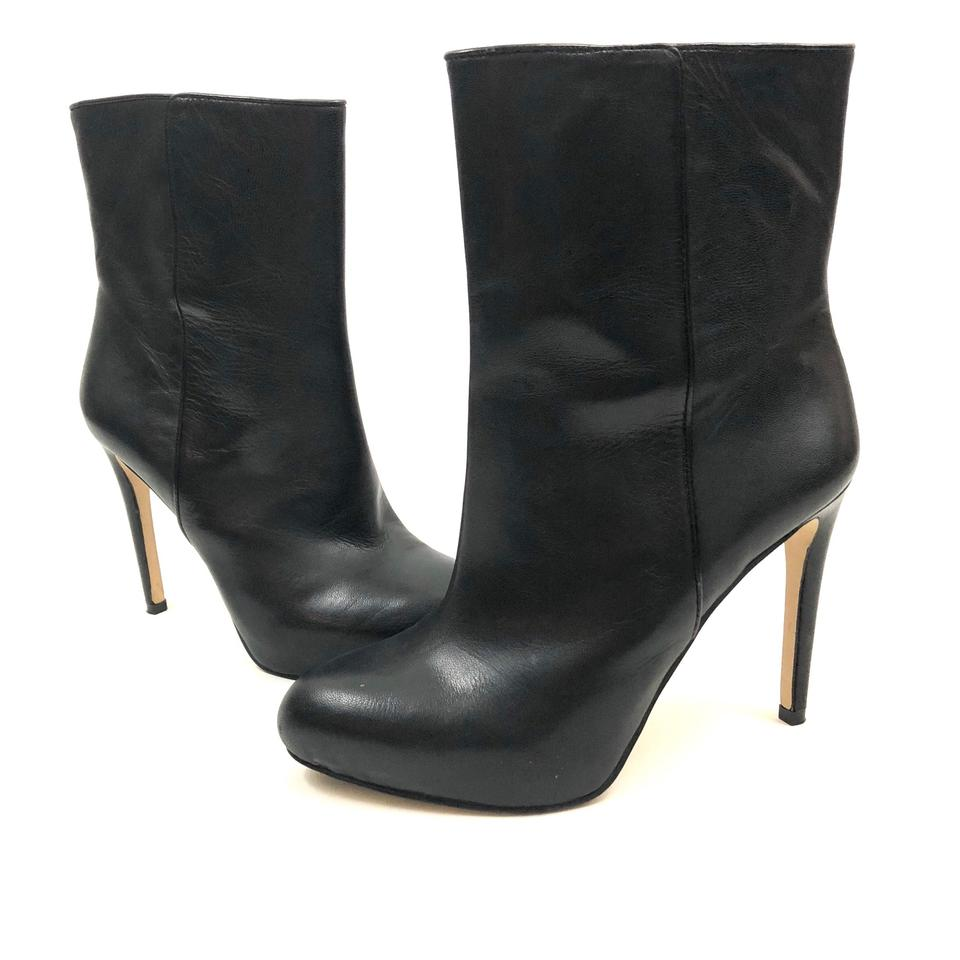 3df91e4dad Louise et Cie Black Valmorel Leather Boots Booties Size US 8 Regular ...