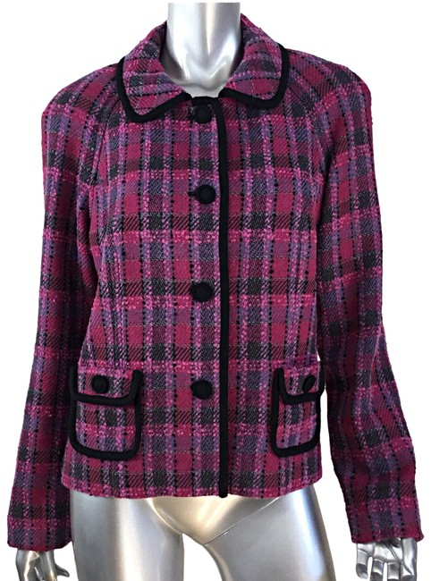 Item - Pink Purple Plaid Blazer Size 14 (L)