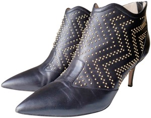 Nicholas Kirkwood Ankle Leather Studded Black Boots