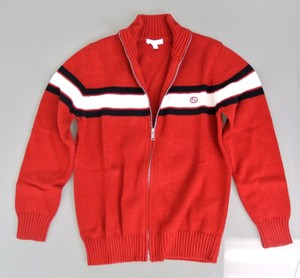 Gucci Red Long Sleeve Zip-up Jacket Sweater 8 270694 Groomsman Gift
