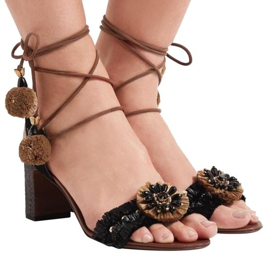 Preload https://img-static.tradesy.com/item/24056011/dolce-and-gabbana-multicolor-dolce-and-gabbana-jeweled-flower-ankle-tie-black-camel-sandals-size-eu-0-1-540-540.jpg