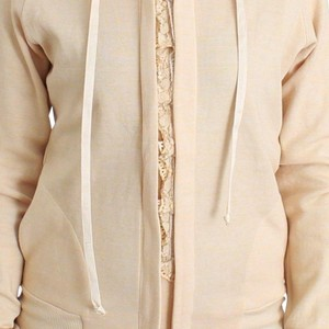 Ermanno Scervino D11868-1 Women's Lingerie Lace Hooded Hoodie Cardigan