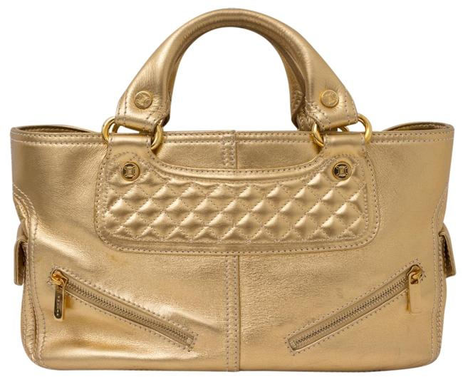 Item - Boogie Gold Leather Tote