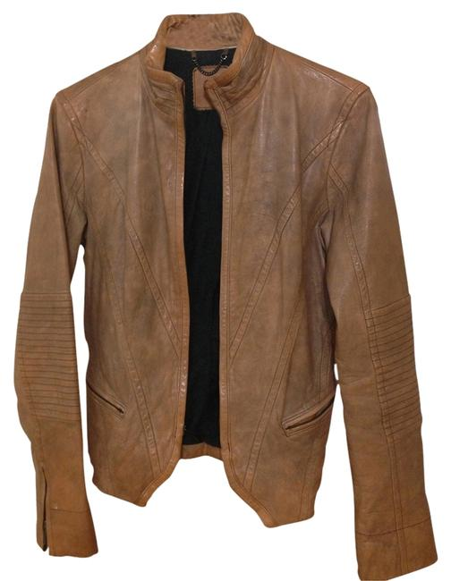 Item - Tan Leather Jacket Size 6 (S)