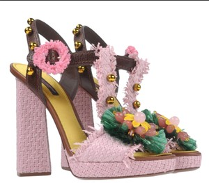 Dolce&Gabbana Dolce & Gabbana New Dolce & Gabbana Sandals New Flower Sandals Gift Sandals Pink Multi Platforms