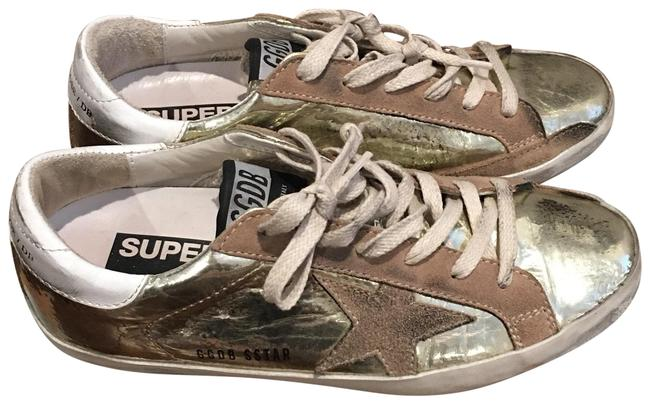Item - Gold Metallic with Brown Suede Accents. Superstar Sneakers Size EU 36 (Approx. US 6) Regular (M, B)