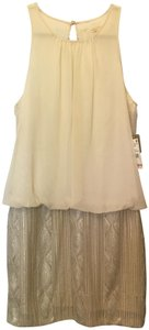 Aidan Mattox Champagne Sequin Sleeveless Party New With Tags Dress