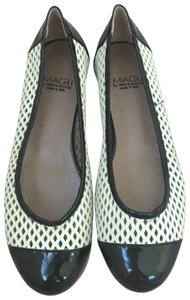 Bruno Magli Black & White Flats