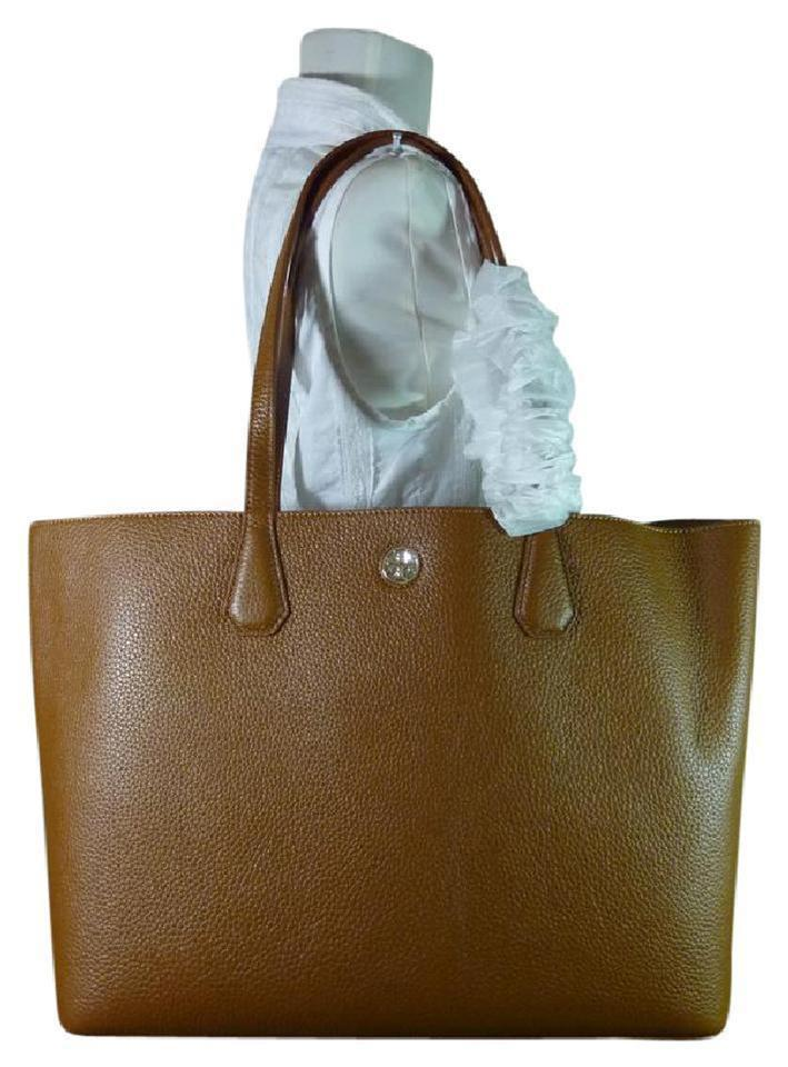 7ac21b4233a Tory Burch Perry Brown Leather Tote - Tradesy