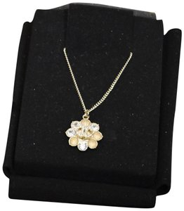Chanel Chanel Silver Flower Pendant Necklace