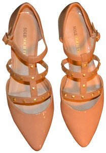 Sole Society nude with gold studs Flats