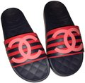 Chanel Size 36 Red Pink multi Sandals