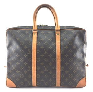 Louis Vuitton Lv Lv Briefcase Lv Monogram Brown Travel Bag