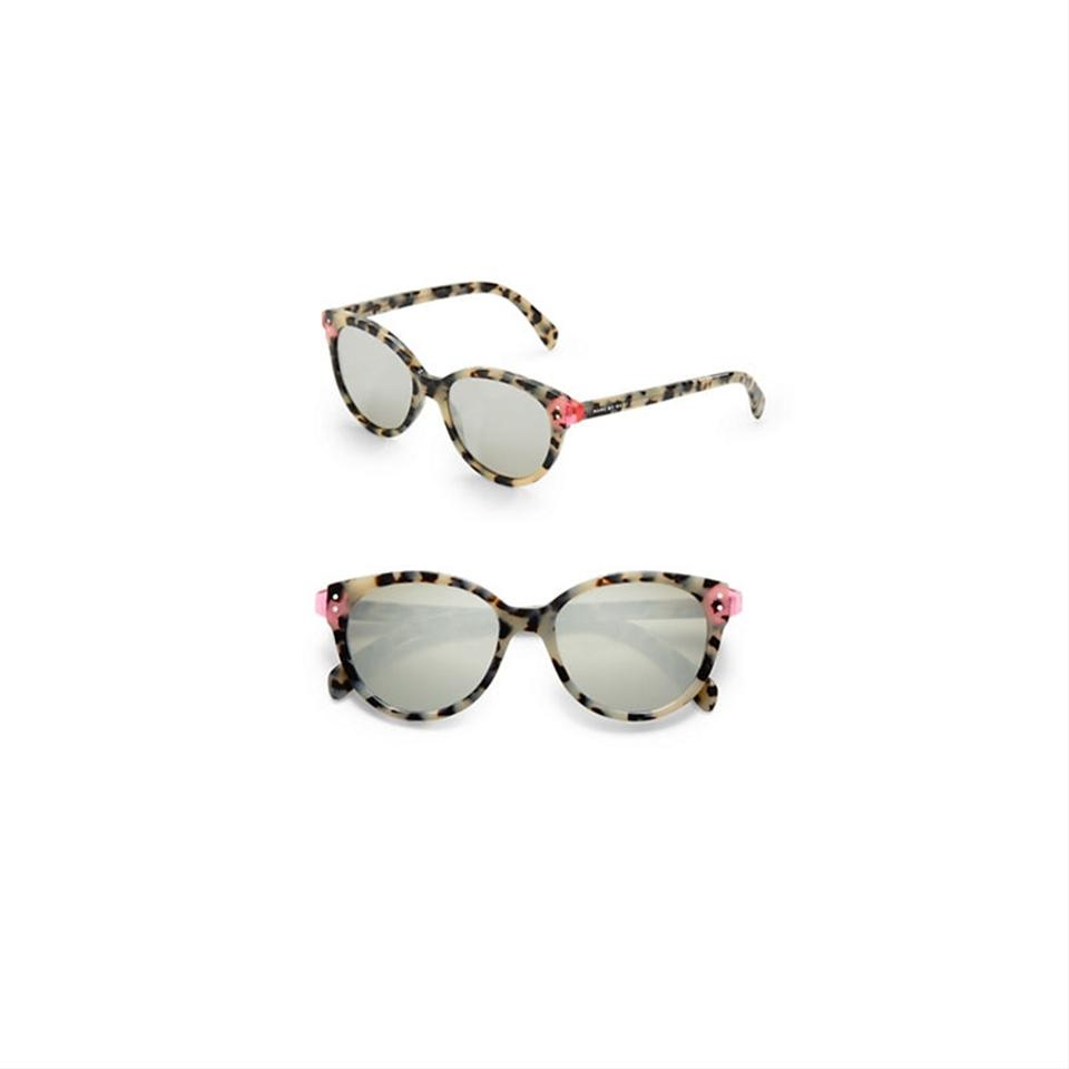5b1184c2bf5b Marc Jacobs Havana/Pink Mirrored Plastic Cat-eye Sunglasses - Tradesy