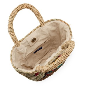 Hat Attack Seagrass Straw Tucan Embroidered Natural Beach Bag