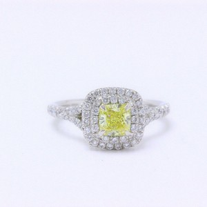 Tiffany & Co. Intense Fancy Yellow Soleste Diamond Flawless 0.97 Engagement Ring