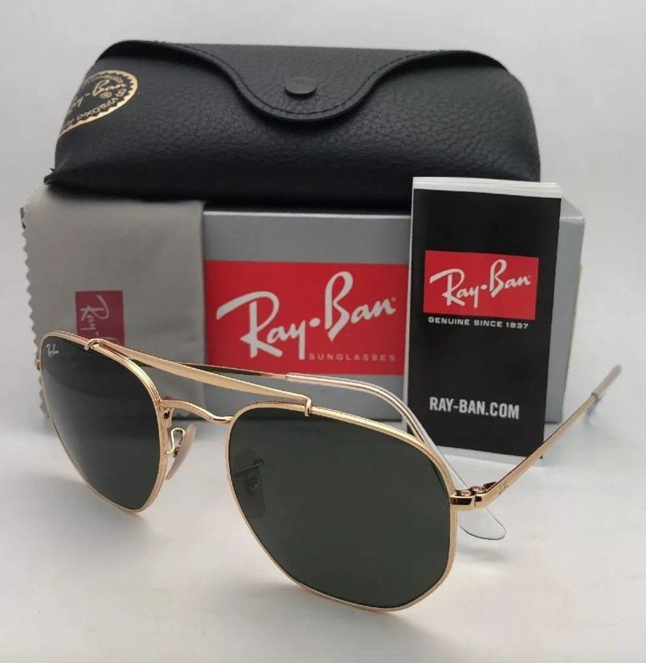 Ray-Ban New The Marshal Rb 3648 001 54-21 Gold Aviator W  G15 Green ... 293dc5c011