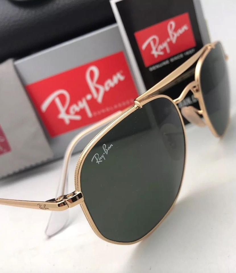5d9c476c026 Ray-Ban New The Marshal Rb 3648 001 54-21 Gold Aviator W  G15 Green ...