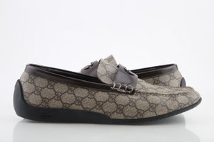 Gucci Brown Wimbledon Gg Plus Men's Loafers Formal Size US 11 Regular (M, B)