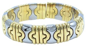 BVLGARI Parentesi Cuff Bracelet in 18k Yellow & White Gold 15mm