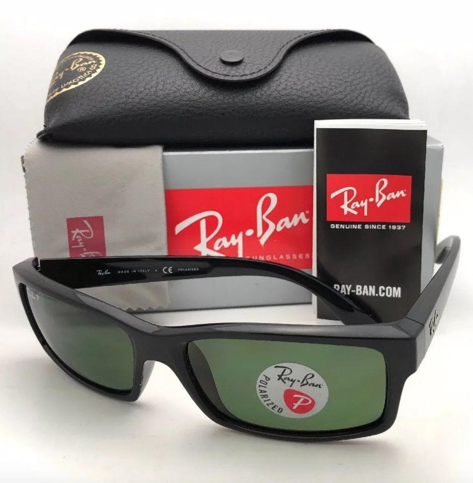 ba579c75ec Ray-Ban Polarized Rb 4151 601 2p 59-17 Black Frame W  Green Lenses 601 2p  W  Sunglasses - Tradesy