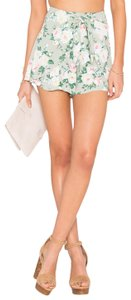 Privacy Please Floral Like New Skort Mint green