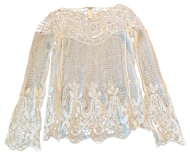 Item - White Open Weave Tunic Size 4 (S)