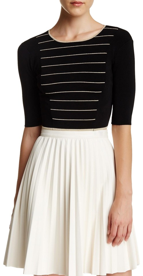 c258fc8a8c3894 Ted Baker London Shelina Striped Crop Black and Gold Top - Tradesy