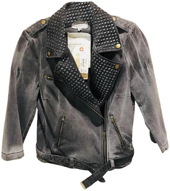 Item - Grey The Biker Jacket Size 4 (S)