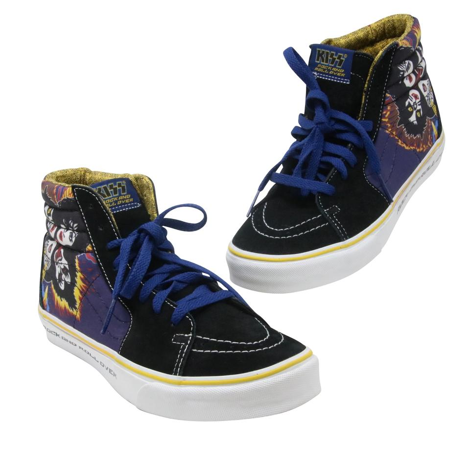 Vans Multicolor Black Classic Kiss Rock And Roll Over Sk8 Hi Top