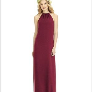 Dessy Burgundy Chiffon 8175 Casual Bridesmaid/Mob Dress Size 10 (M)